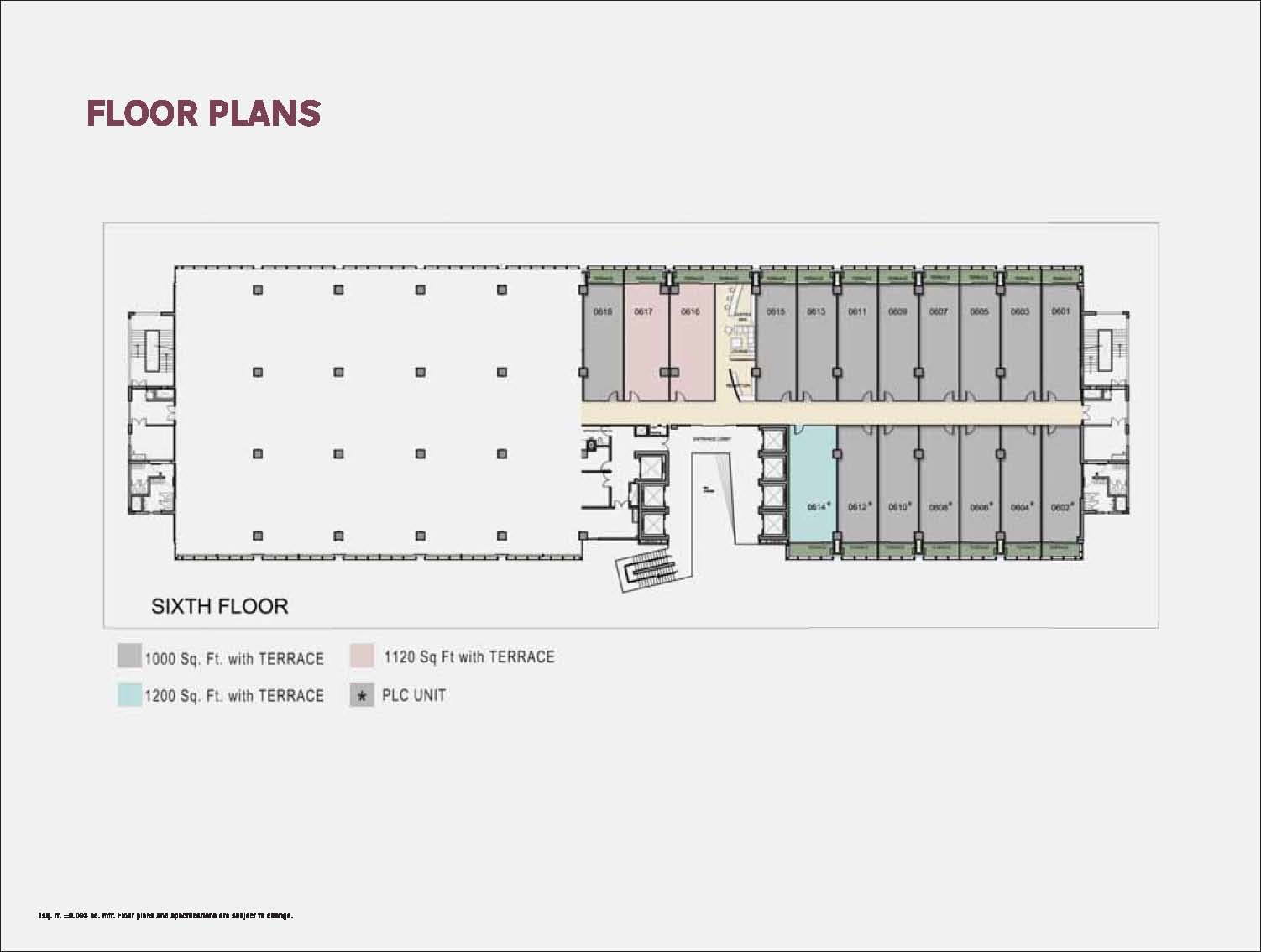 wtc noida floor plan of 6th floor